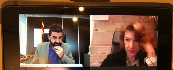 Video reunió amb el Conseller El Homrani, 19 de maig